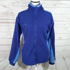 Columbia zip up fleece jacket blue